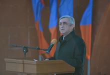 Речь Президента Сержа Саргсяна в связи с произошедшими в Париже террористическими актами