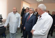 President Serzh Sargsyan visited Tavush and Gegharkunik marzes