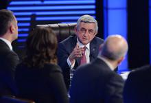 Интервью Президента Сержа Саргсяна представителям армянских телекомпаний
