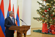 Congratulatory remarks by President Serzh Sargsyan at the New Year reception for journalists