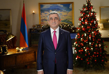 New Year Congratulatory Address by President Serzh Sargsyan on the occasion of New Year and Holly Christmas