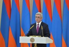 Поздравительное обращение Президента Сержа Саргсяна по случаю Дня армии