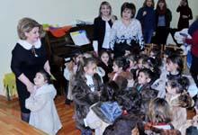 Первая леди Армении Рита Саргсян посетила детский сад-интернат №141