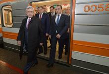 Президент посетил Ереванский метрополитен, затем присутствовал на открытии центра «Россия Молл»