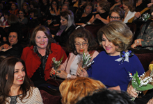 Rita Sargsyan attended the concert of the Russian pop music star Nikolay Baskov
