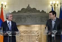 Заявление Президента Сержа Саргсяна перед СМИ после встречи с Премьер-министром Греции Алексисом Ципрасом