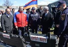 Նախագահը ներկա է գտնվել Հայ-ռուսական մարդասիրական արձագանքման կենտրոնի բացմանը
