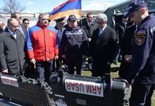 Президент присутствовал на открытии Армяно-Российского центра гуманитарного реагирования