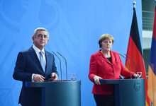 President Sargsyan and Chancellor Merkel recapped the results of the negotiations at the joint press conference