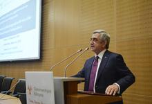 Выступление Президента Сержа Саргсяна в Кипрском университете