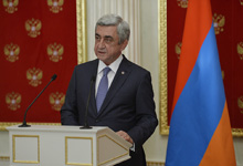 Statement of President Serzh Sargsyan for the mass media on the results of the meeting with the President of the Russian Federation Vladimir Putin