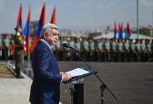 Речь Президента в связи с торжественной церемонией открытия нового корпуса командно-штабного факультета военного университета имени Вазгена Саргсяна