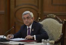 Выступление Президента Сержа Саргсяна на заседании Совета глав государств-участников СНГ в узком составе