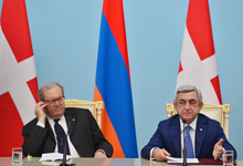 President Serzh Sargsyan and the Prince and Grand Master of the Sovereign Military Hospitaller Order of Malta Fra Matthew Festing summarized the results of the negotiations at the meeting with the representatives of the mass media