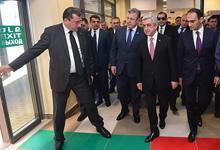 Նախագահ Սերժ Սարգսյանը մասնակցել է Բագրատաշենի սահմանային անցման կետի բացման արարողությանը
