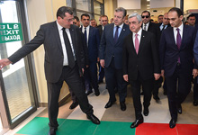 Президент Серж Саргсян принял участие в церемонии открытия Баграташенского пограничного пропускного пункта