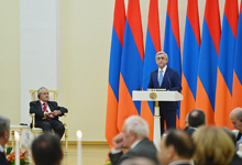 Address of the President of Armenia Serzh Sargsyan at the official ceremony of the RA Presidential Award for the global contribution to the area of Information Technologies for year 2016