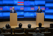 President Serzh Sargsyan met with the President of the European Council Donald Tusk