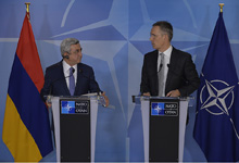 President Serzh Srgsyan and NATO Secretary General Jens Stoltenberg recapped the results of the negotiations at the joint press conference