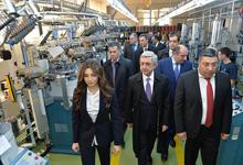 President Serzh Sargsyan visited Alex Textile Company