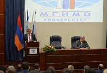 Речь Президента Сержа Саргсяна в Московском Государственном институте международных отношений