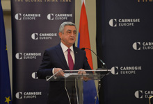 Remarks by President Serzh Sargsyan at the Carnegie Center