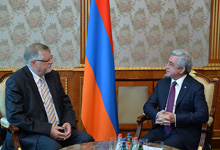 President Serzh Sargsyan received designated European Union special representative for the South Caucasus and for the crisis in Georgia Herbert Salber