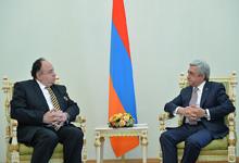Президент Серж Саргсян принял верительные грамоты посла Эквадора в Армении