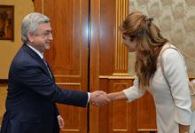 Президент Серж Саргсян принял принцессу Иордании Дину Майред
