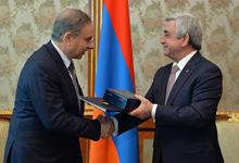 President received the State Secretary of Lebaonon Michel Pier Pharaon
