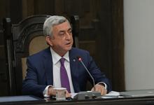 Речь Президента Сержа Саргсяна на заседании правительства