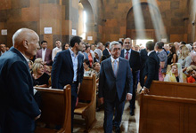 President attends consecration of newly built church in Yeghvard