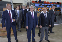 President pays working visit to Aragatsotn Marz of Armenia