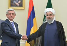 President Serzh Sargsyan meets with IRI President Hassan Rouhani