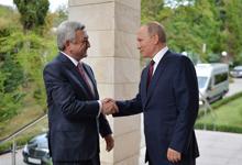 Armenian-Russian high-level talks held in Sochi