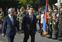 Official welcoming ceremony for Turkmen President held at Presidential Palace