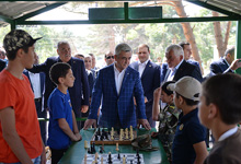 President visits Young Yerkrapah educational-sports recreational complex