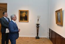 President Serzh Sargsyan visits exposition on 200th birth anniversary of Hovhannes Aivazovsky