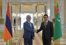 President Serzh Sargsyan attends opening of 5th Asian Games in Turkmenistan