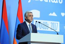 Речь Президента Сержа Саргсяна на первом пленарном заседании VI Всеармянской конференции Армения-Диаспора