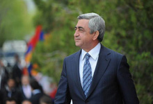 President Serzh Sargsyan receives congratulatory messages on the occasion of the 26th anniversary of Armenia's independence