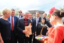 Նախագահ Սերժ Սարգսյանը մասնակցել է Գյումրու օրվան նվիրված միջոցառումներին