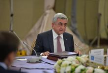 Выступление Президента Сержа Саргсяна на заседании Совета глав государств СНГ