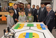 President attends inauguration of Ayb School's new building