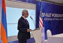 Президент принял участие в гала-ужине, посвящённом рабочему собранию Фонда науки и технологий Армении и Национального фонда науки США