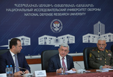 President Serzh Sargsyan's lecture at the National Defense Research University