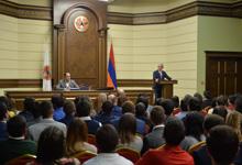 RPA Andranik Margaryan political school listeners host the President of the Republic