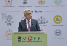 Working visit of President Serzh Sargsyan to the Republic of India