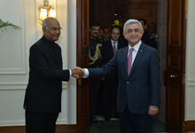 President Serzh Sargsyan meets with President Ram Nath Kovind of India