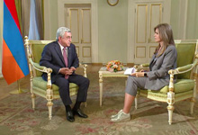 "President Serzh Sargsyan's interview to ""Rossiya 24"" TV channel"